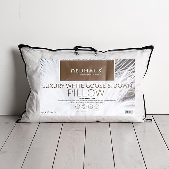 Neuhuas Luxury White Goose & Down Pillow