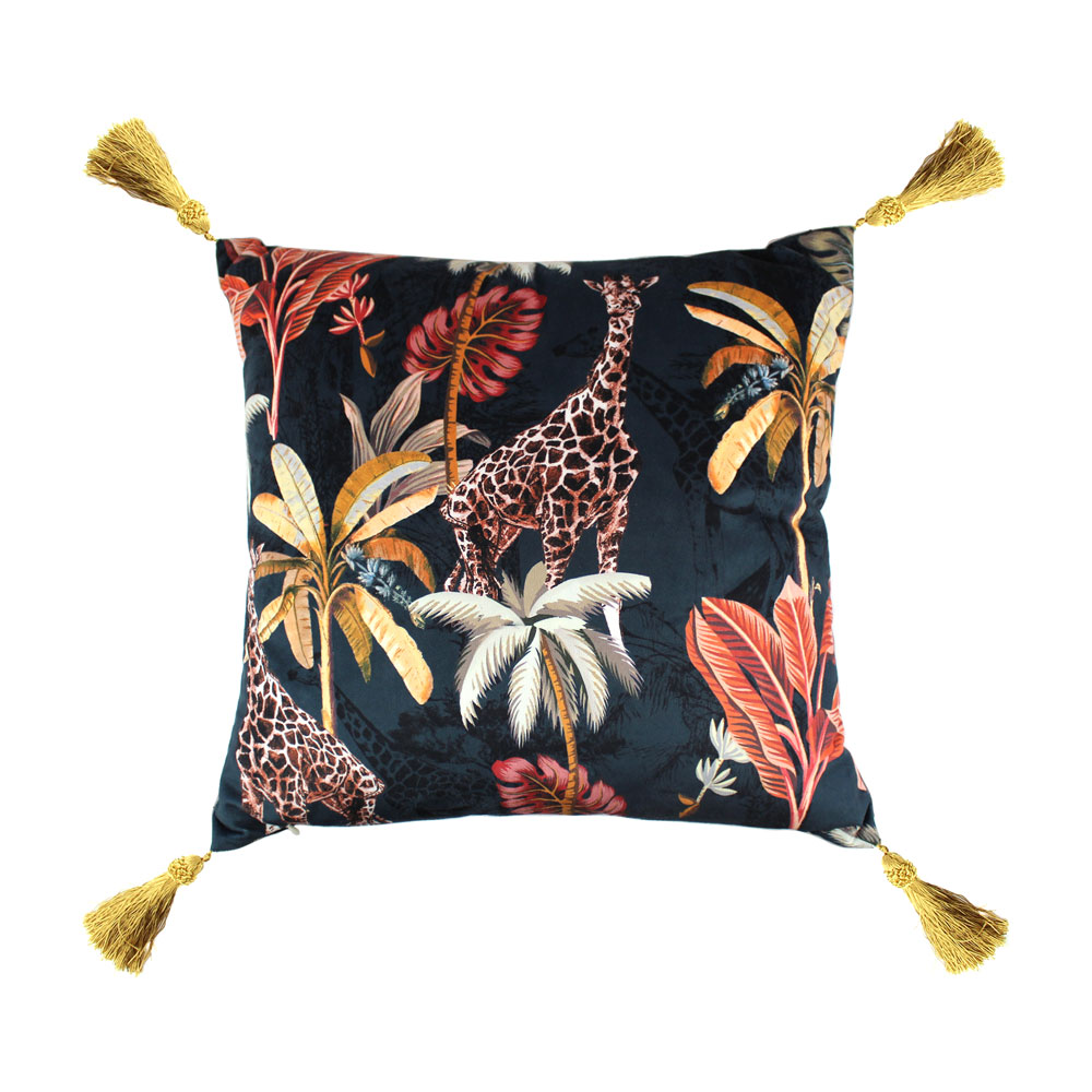 Scatterbox Simone Navy/ Coral Cushion 58x58cm