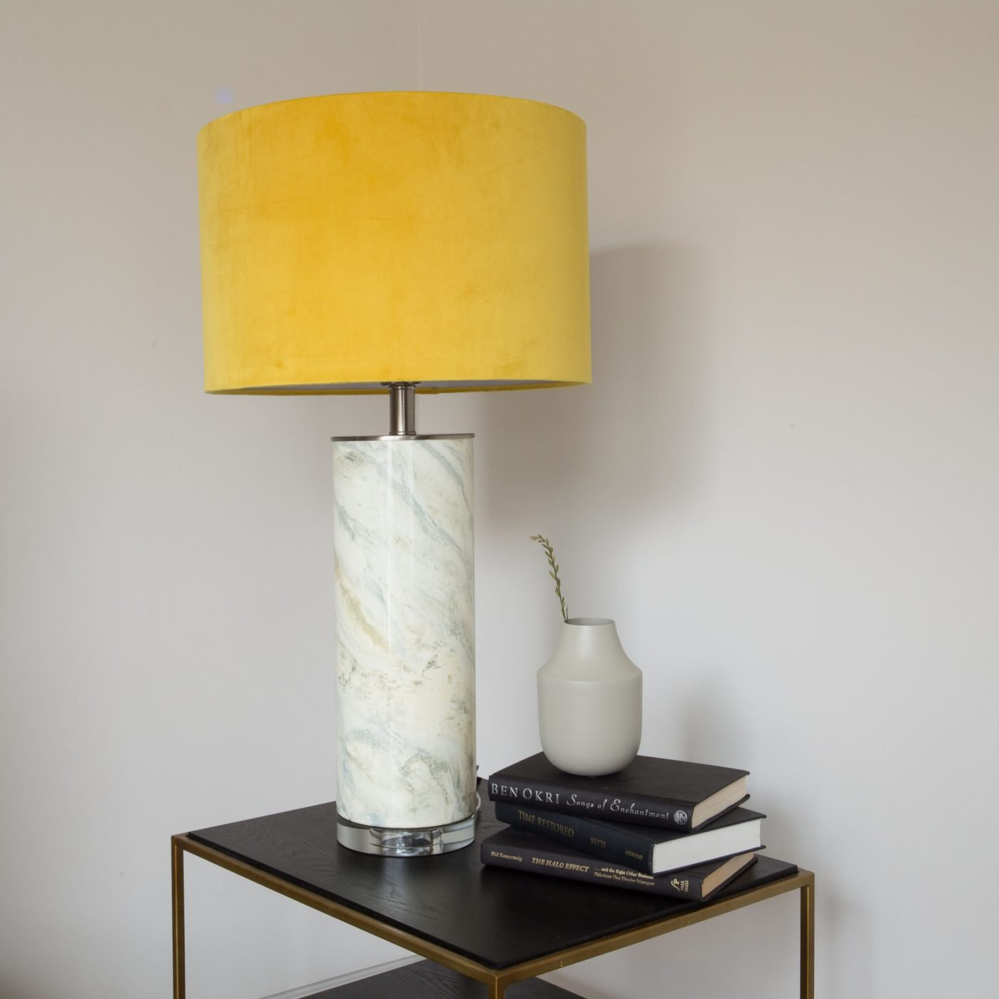 Abstract Table Lamp Mustard