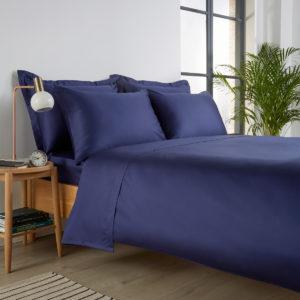Christy 400 cotton sateen navy bedding