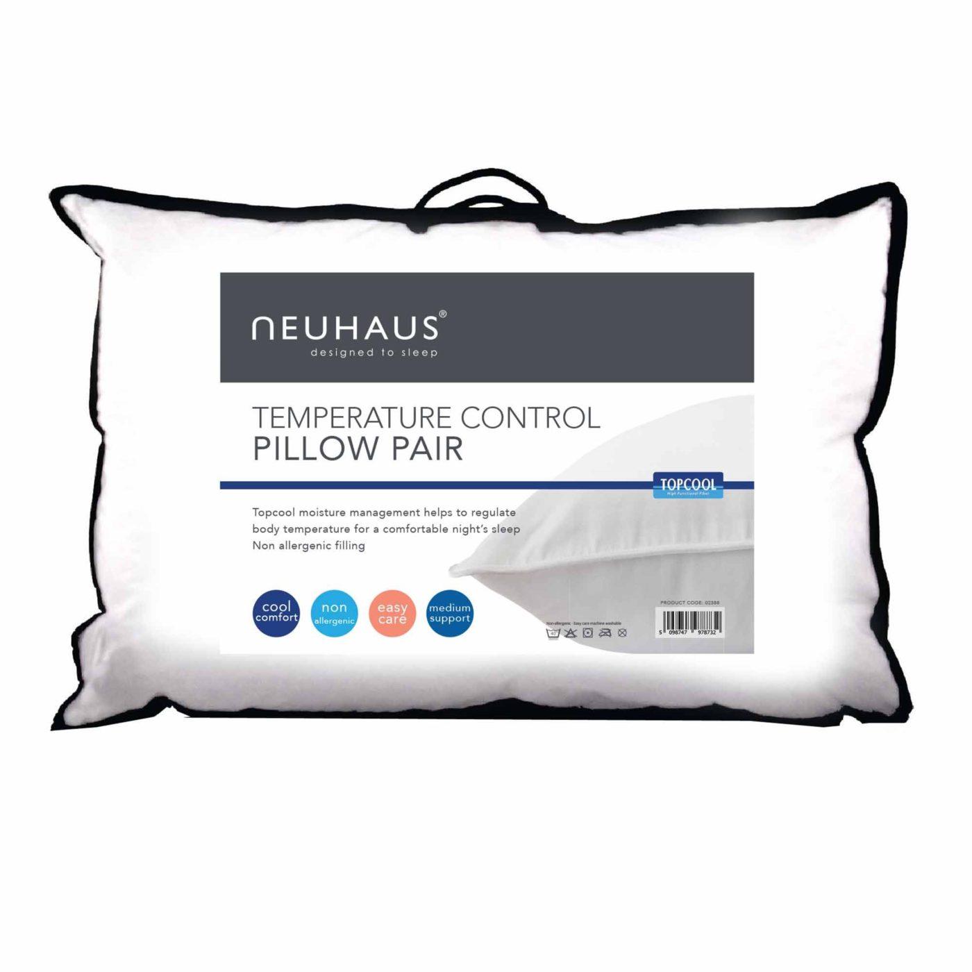 Neuhaus Top Cool Temperature Control Twin Pack Pillows