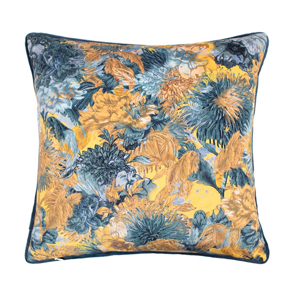 Scatterbox Miravel 45x45cm Blue/ Ochre Cushion