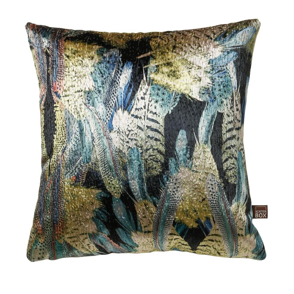 Scatterbox Preen Blue/ Green Cushion 43x43cm