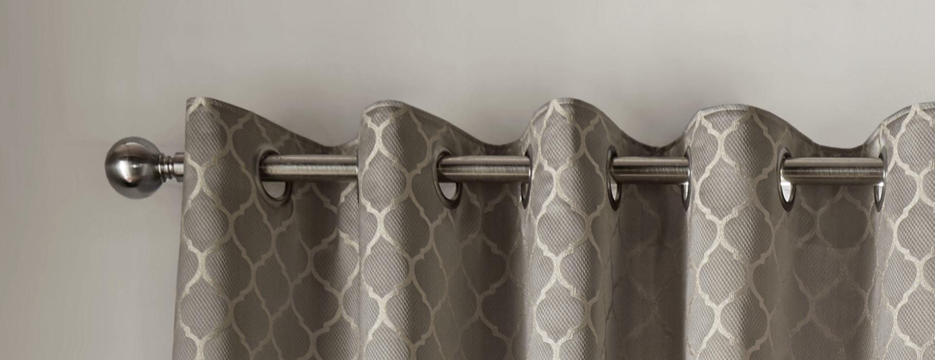 Aldbury Pewter Eyelet Curtains