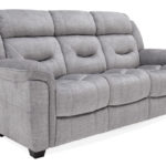 Dudley Sofa Grey 3 seater side