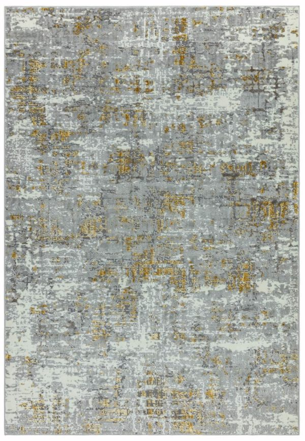 Orion Abstract Yellow Rug