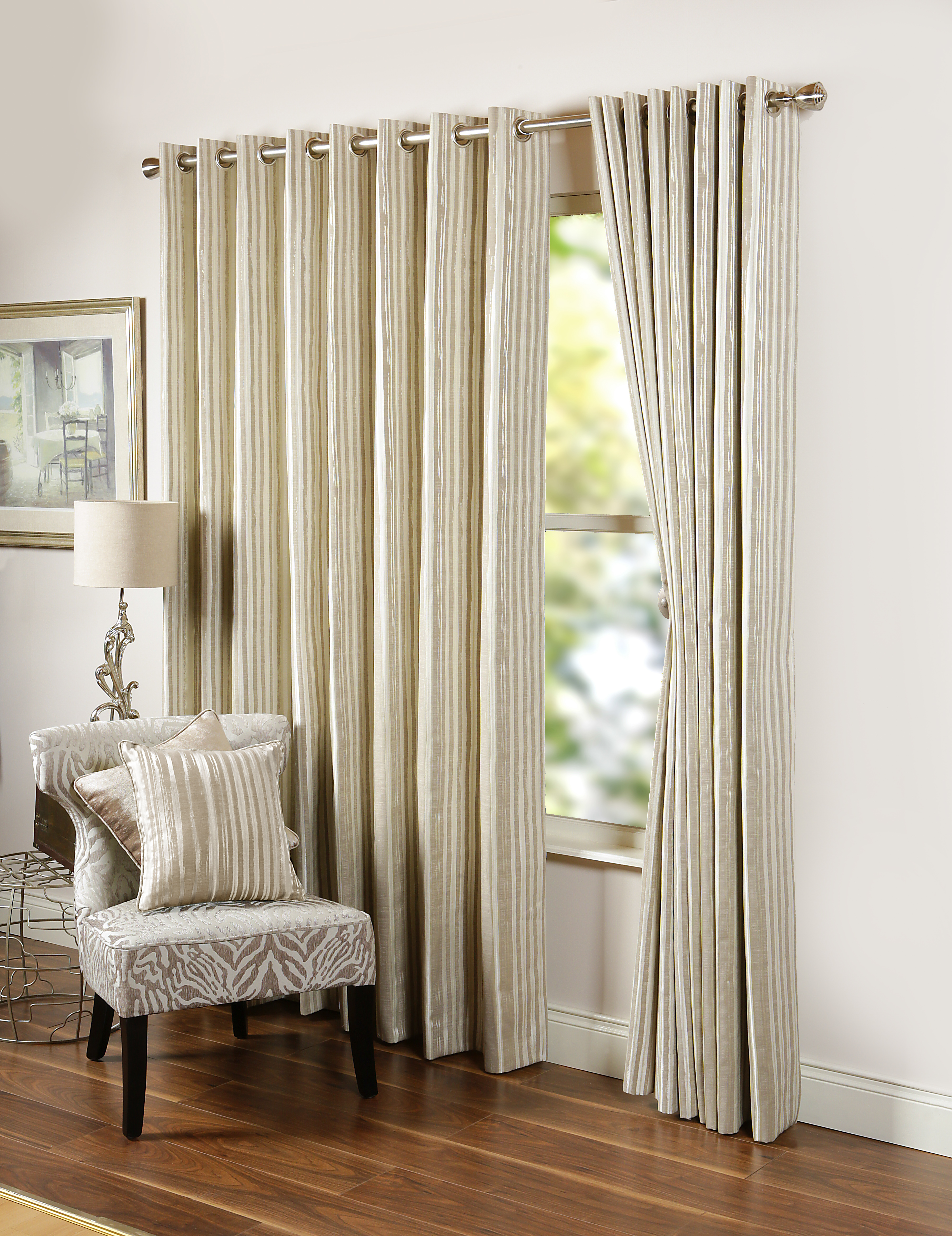 Dawn Natural Eyelet Curtains