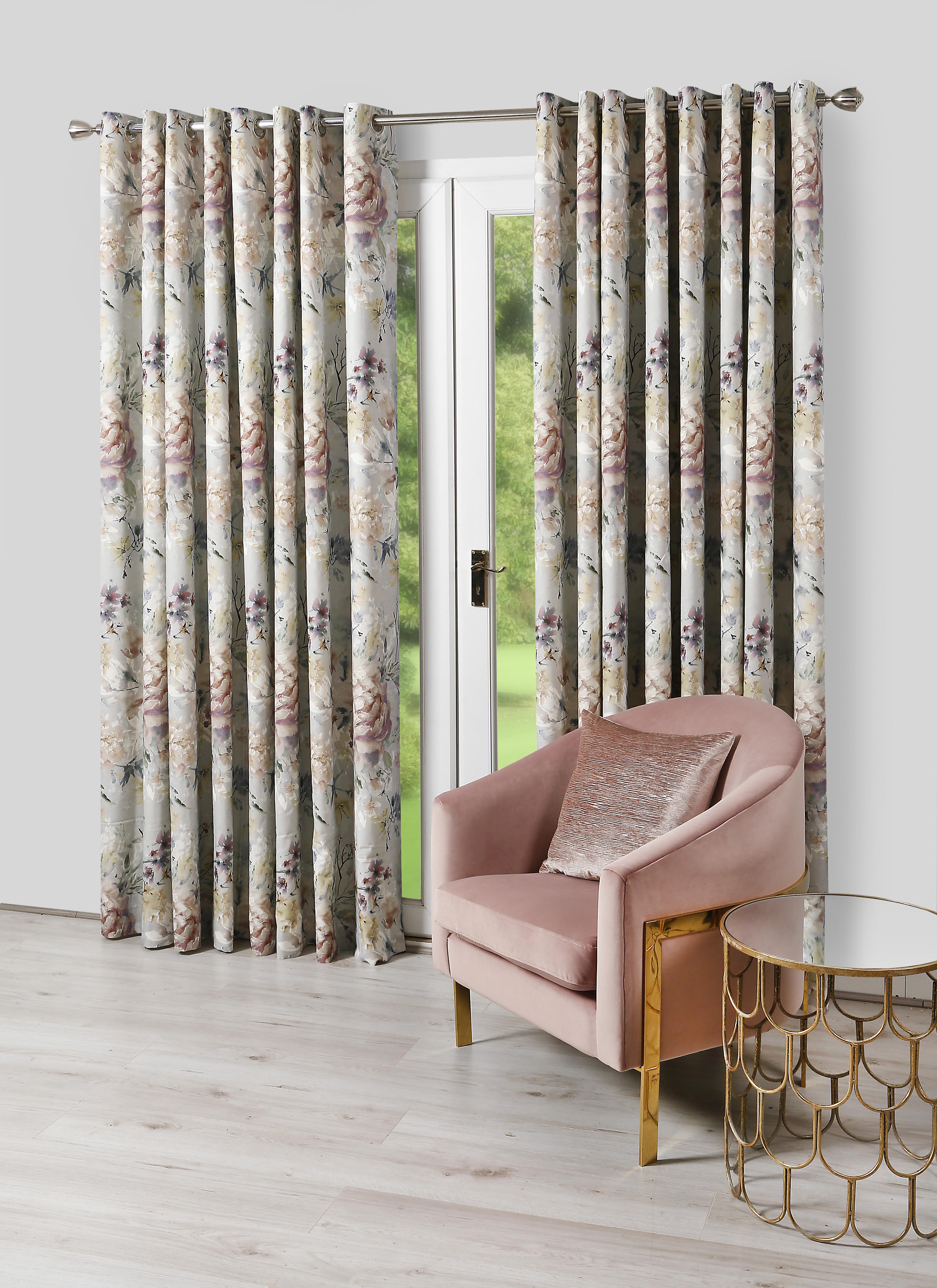 Eden Dove Eyelet Curtains