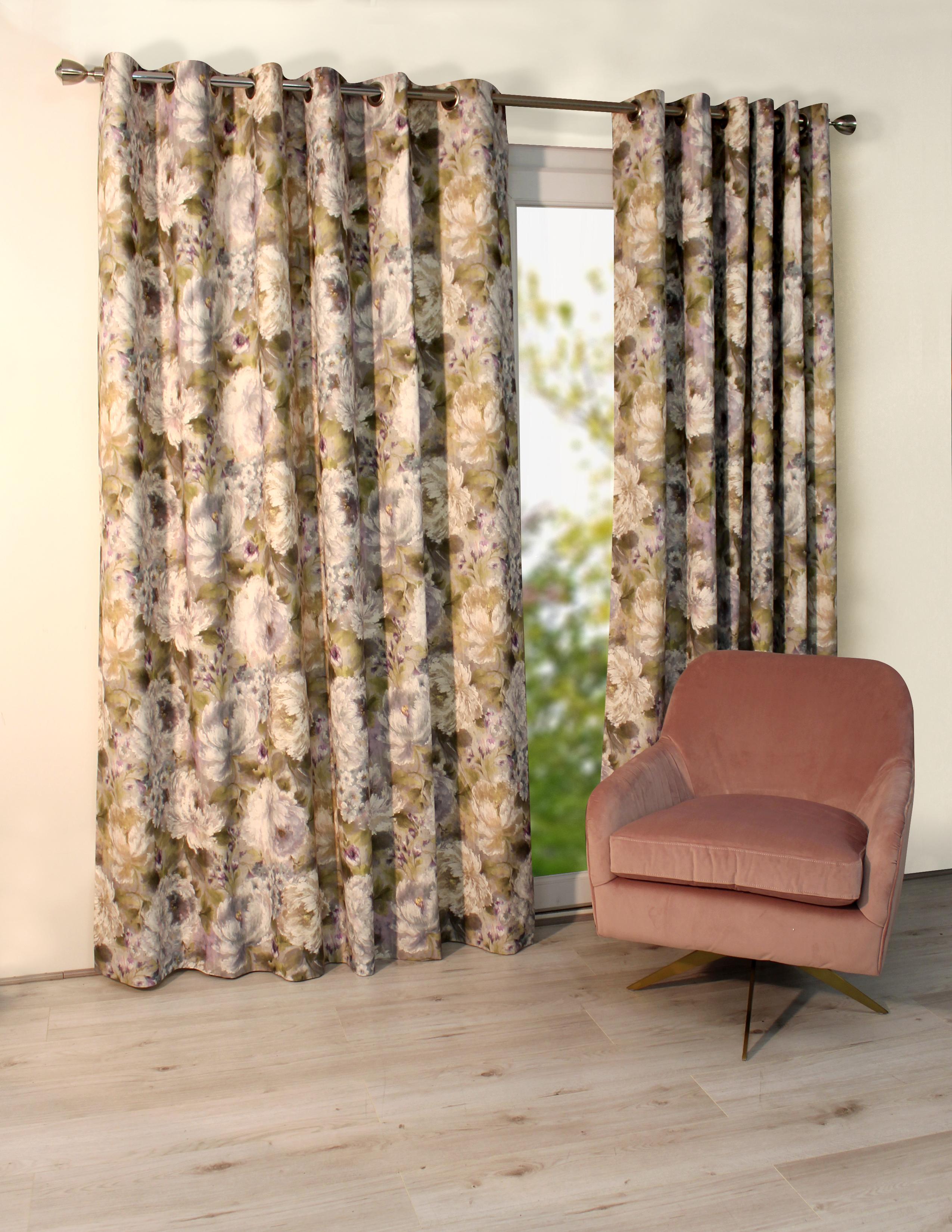 Primavera Moss Eyelet Curtains