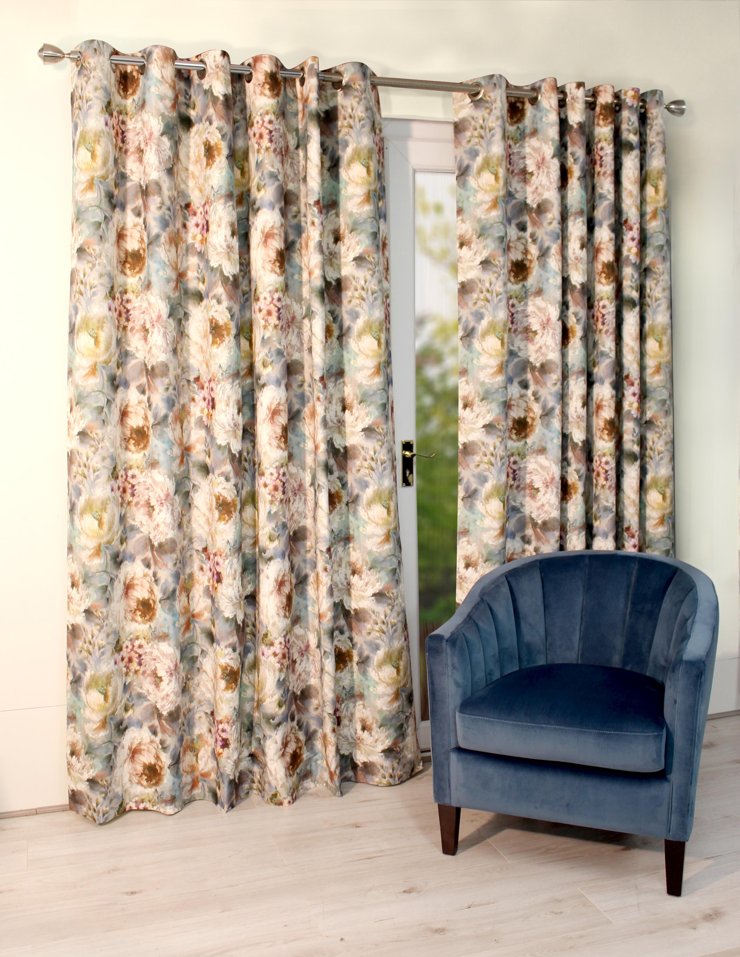 Primavera Teal Eyelet Curtains
