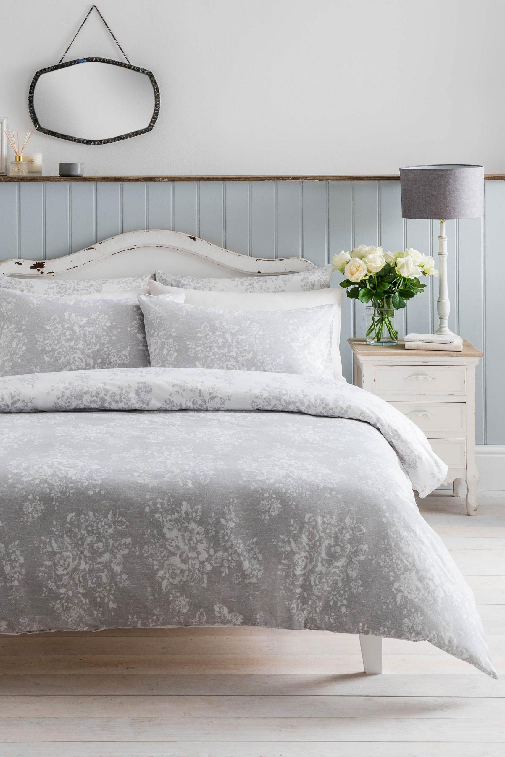 Washed Rose Grey Duvet Set by Cath Kidston