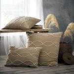 Amara Tassel Latte Cushion