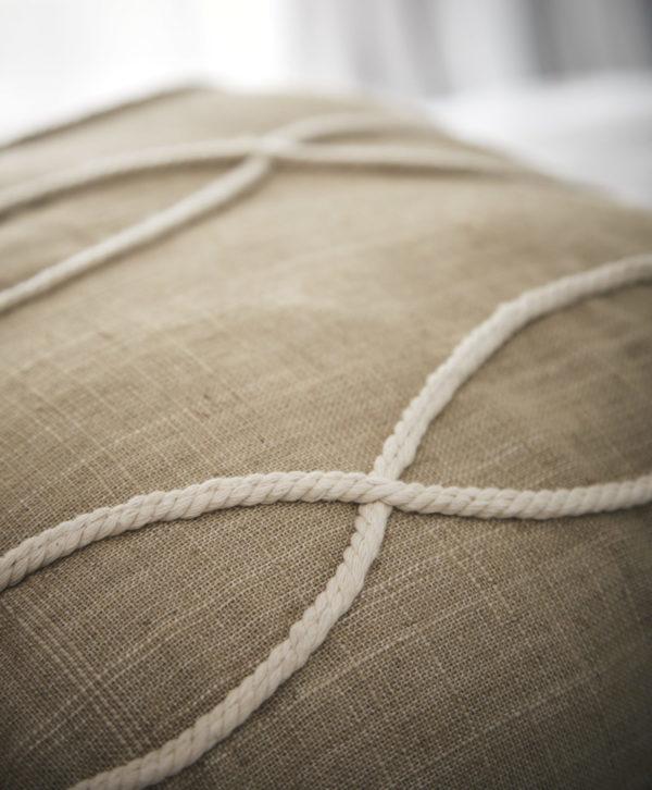 Amara Tassle Latte Cushion