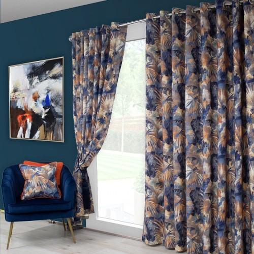 Aria Blue/ Orange Curtains