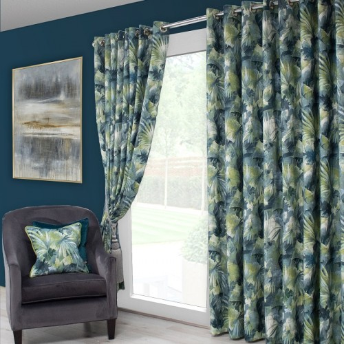 Aria Teal Green Curtains