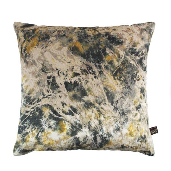Aristo Green Ochre Cushion