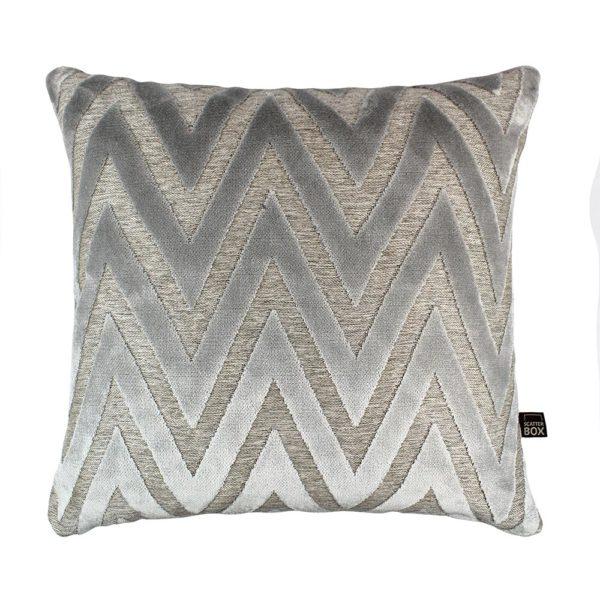 Bowie Silver Cushion