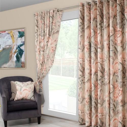 Edie Blush Sage Curtains