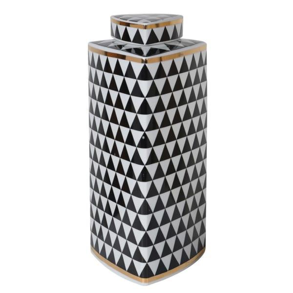 Geometric Monochrome Jar