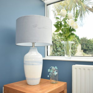 Marble Effect Table Lamp
