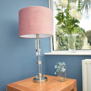 Pink Velvet Table Lamp