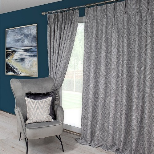 Sika Grey Pinch Pleat Curtains