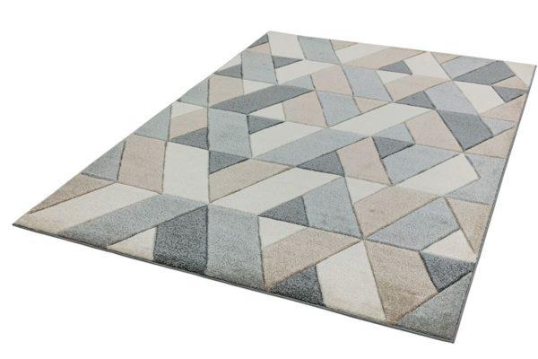 Sketch Rhombus Grey Rug