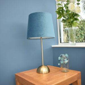 Navy Brass Table Lamp