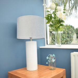 White Ceramic Table Lamp