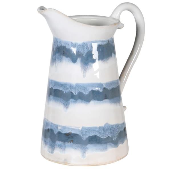 Blue & White Ceramic Jug