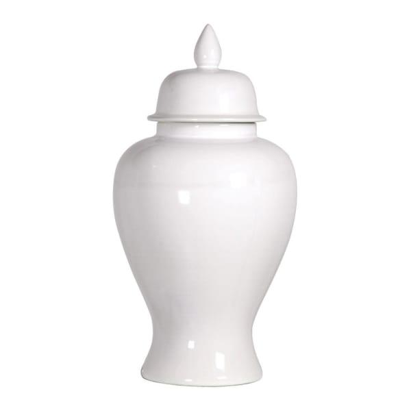 Large White Ginger Jar