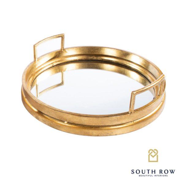 Amelia Gold Mirrored Tray Round