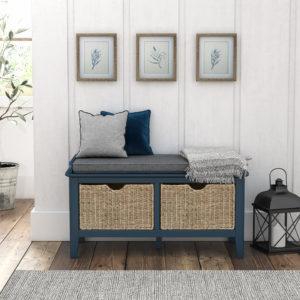 Harrogate Storage Bench Navy Blue