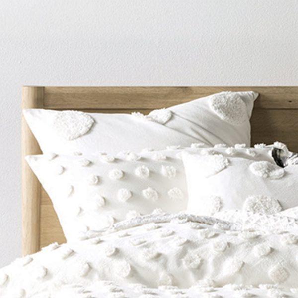 Haze Square Pillowcase White