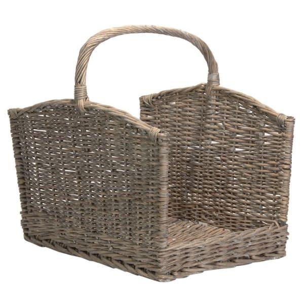 Large Grey Willow Log Basket