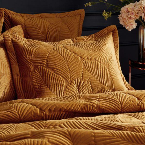 Palmeria Gold Pillowcases